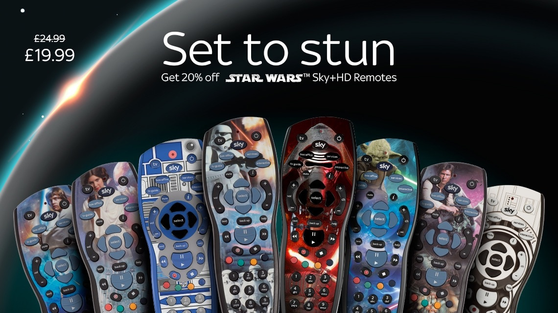 Get 20% off Star Wars Sky+HD Remotes