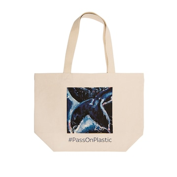 See Whale by Ronnie Wood, Tote Bag