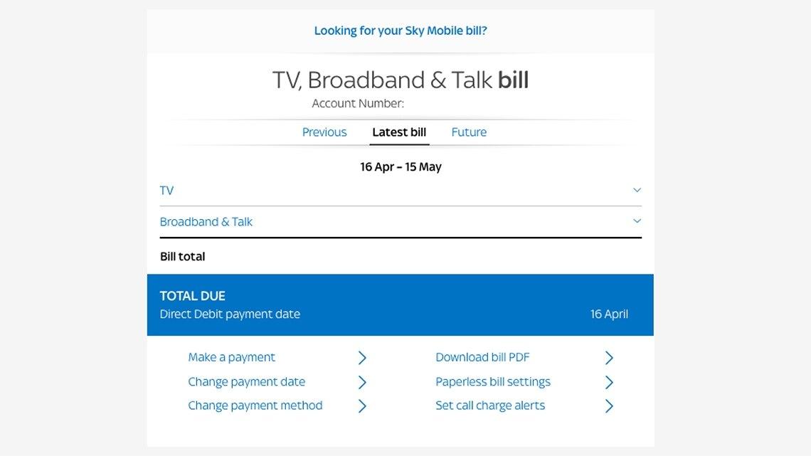 Manage My Bill Sky Com